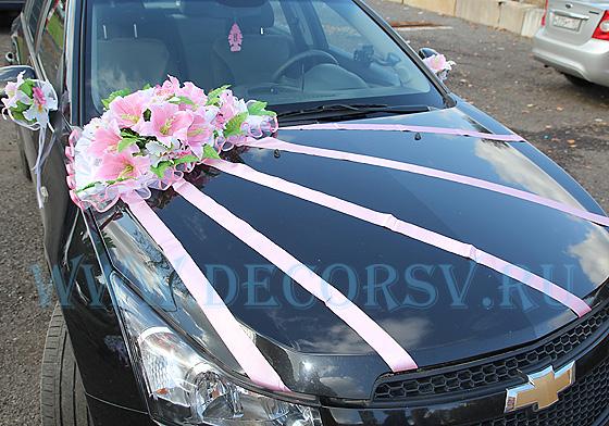 Украшение лентами свадебных машин